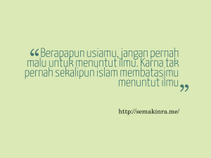 Kata Mutiara Indahnya Islam