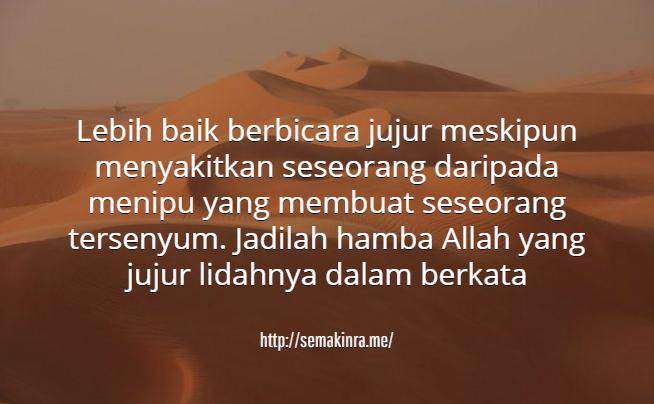 untaian kata mutiara islam tentang kejujuran   kata ucapan